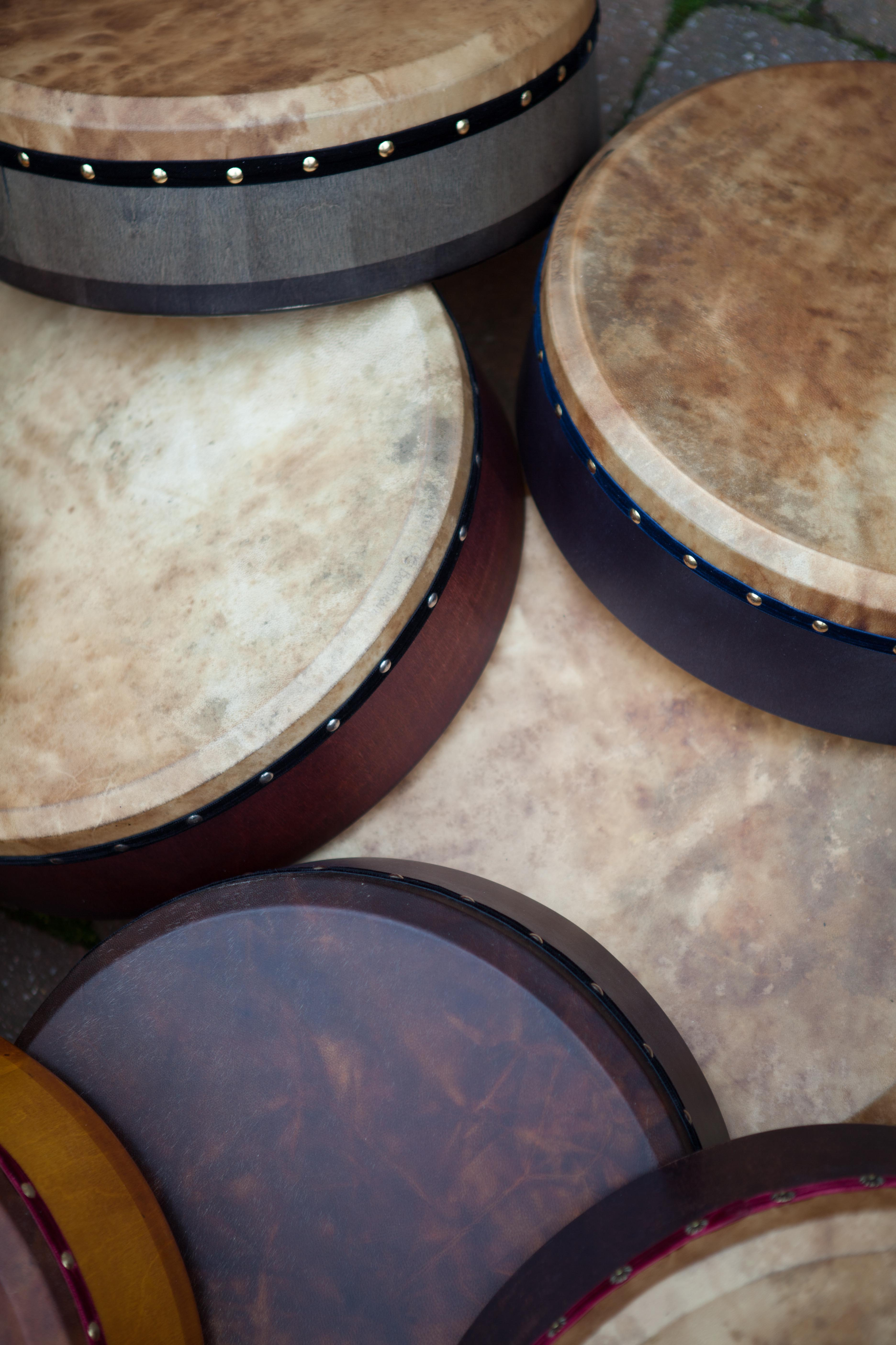 new dye on my bodhran skins